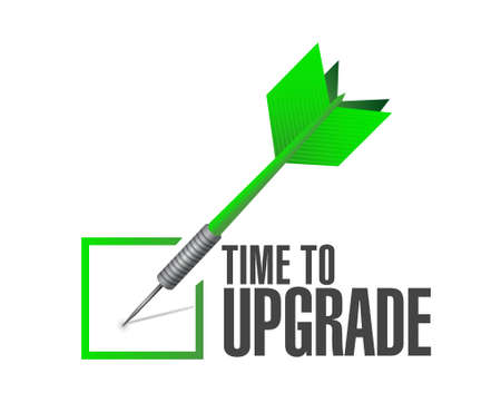 enhancement: time to upgrade check dart sign concept illustration design graphic