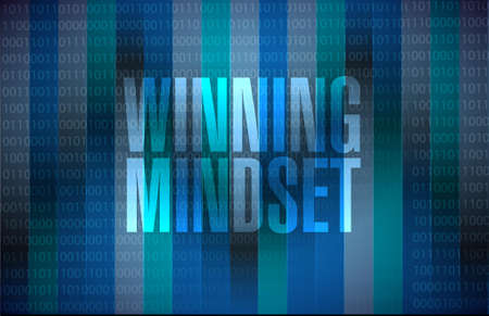 mindset: winning mindset binary sign concept illustration design graphic icon Illustration