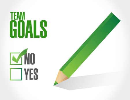 no Team goals sign concept illustration design graphic 矢量图像
