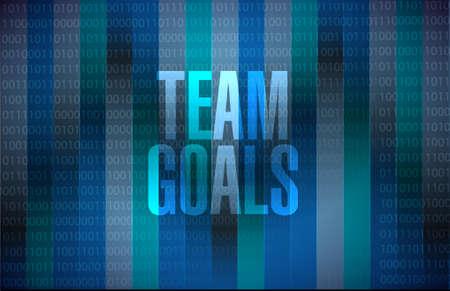 Team goals binary background sign concept illustration design graphic 矢量图像