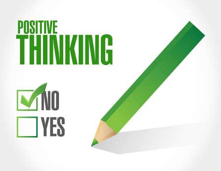positive thinking negative selection sign concept illustration design graphic Illusztráció