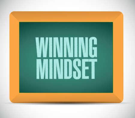 mindset: winning mindset board sign concept illustration design graphic icon