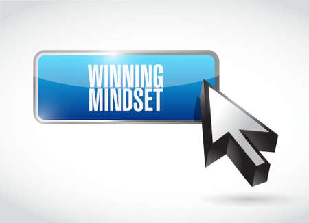 mindset: winning mindset button sign concept illustration design graphic icon Illustration