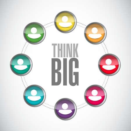 think big: think big community sign concept illustration design graphic Illustration