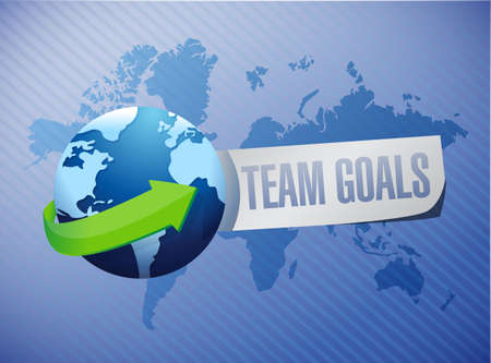 intent: Team goals international sign concept illustration design graphic