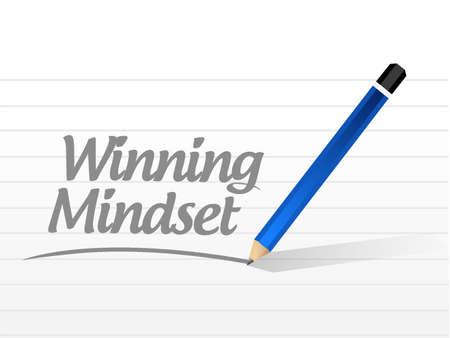mindset: winning mindset message sign concept illustration design graphic icon