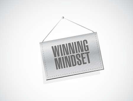 mindset: winning mindset texture banner sign concept illustration design graphic icon