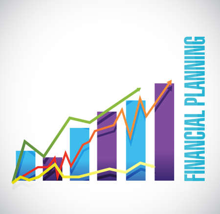 financial planning business graph sign concept illustration design graphic