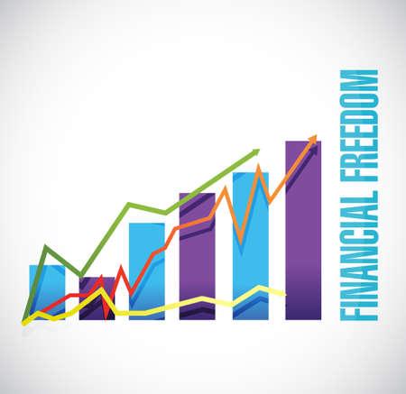 libertad: libertad financiera signo gráfico de negocio ilustración del concepto de diseño gráfico