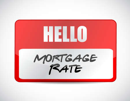 mortgage rate name tag sign concept illustration design graphic icon