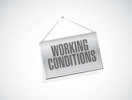 werkomstandigheden opknoping banner teken concept, illustratie, grafisch