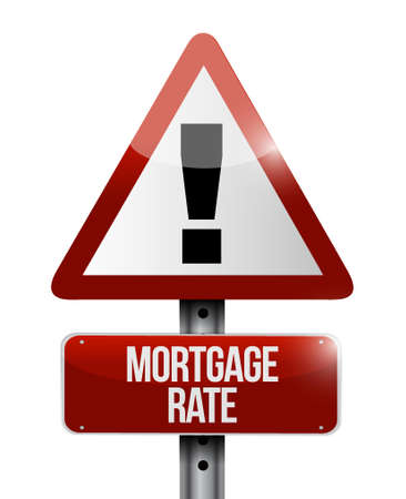 lend: mortgage rate warning road sign concept illustration design graphic icon Illustration
