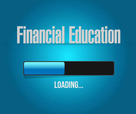 financial education loading bar sign concept illustration design graphic
