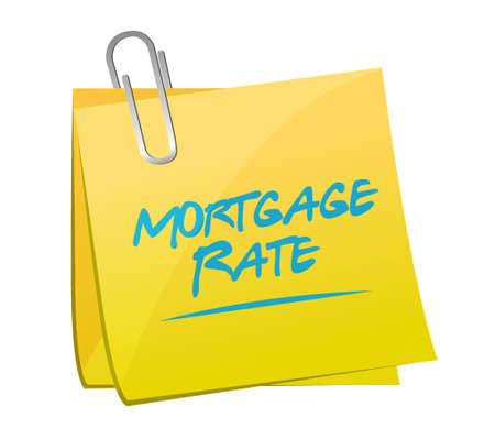 mortgage rate memo post sign concept illustration design graphic icon
