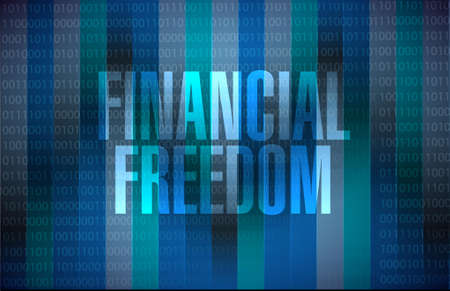 conservative: financial freedom binary sign concept illustration design graphic