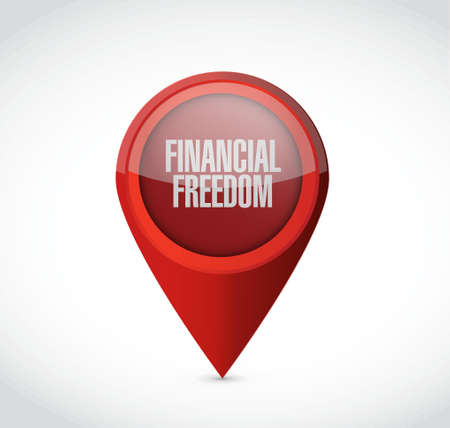 financial freedom: financial freedom pointer sign concept illustration design graphic Illustration