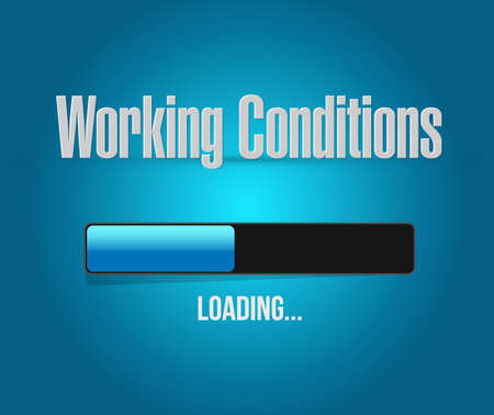 flexible business: working conditions loading bar sign concept illustration design graphic