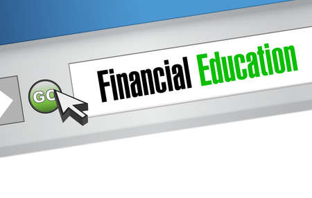 financial education online sign concept illustration design graphic Illustration