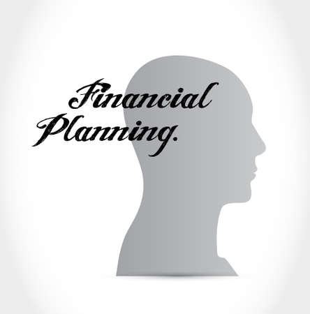financial planning mind sign concept illustration design graphic