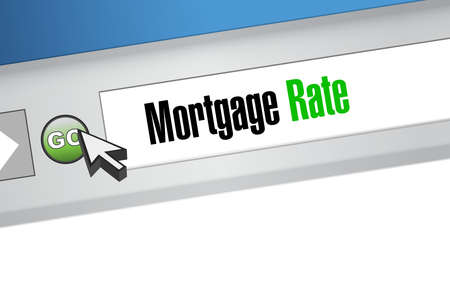 mortgage rate web browser network sign concept illustration design graphic icon