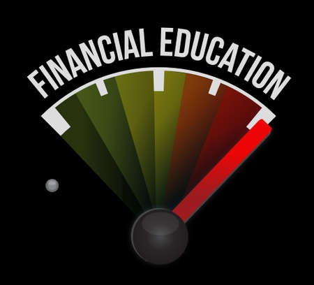 studing: financial education meter sign concept illustration design graphic