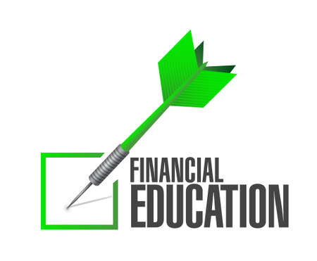 studing: financial education check dart sign concept illustration design graphic Illustration