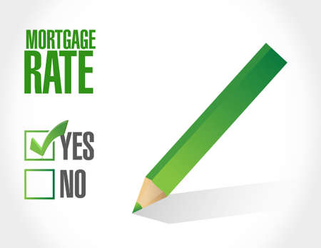 lend: mortgage rate approval sign concept illustration design graphic icon Illustration