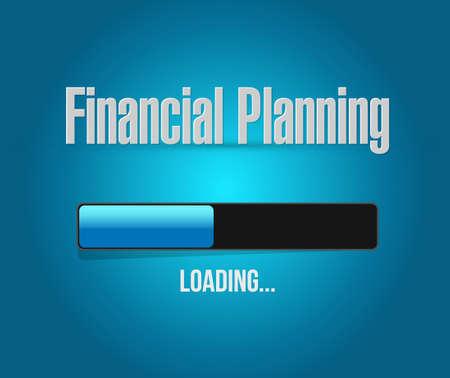financial emergency: financial planning loading bar sign concept illustration design graphic
