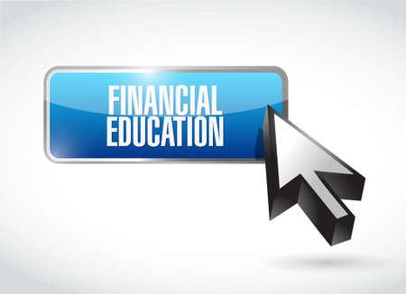 financial education button sign concept illustration design graphic