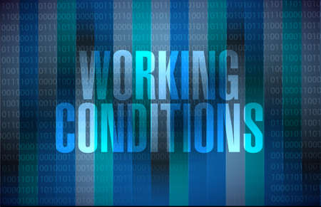 flexible business: working conditions binary background sign concept illustration design graphic Illustration