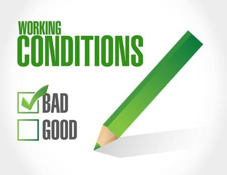 slechte arbeidsomstandigheden teken concept illustratie grafisch