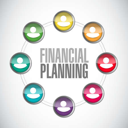financial emergency: financial planning people diagram sign concept illustration design graphic