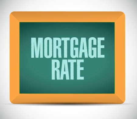 mortgage rate board sign concept illustration design graphic icon
