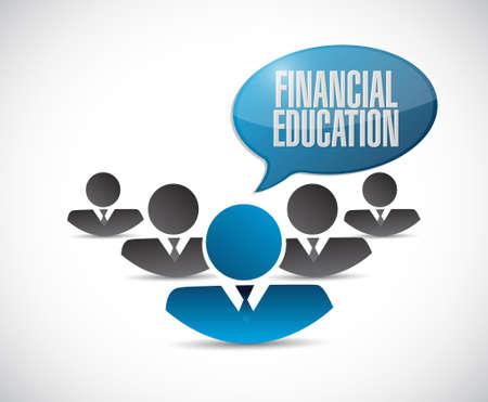 financial education: financial education team sign concept illustration design graphic