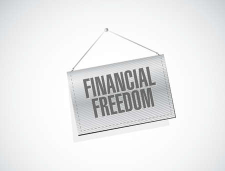 financial freedom: financial freedom texture banner sign concept illustration design graphic