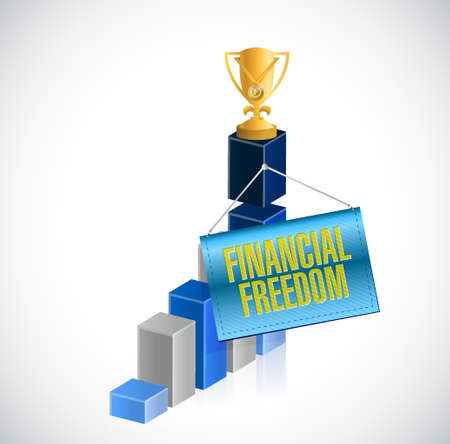 roth: financial freedom business graph sign concept illustration design graphic