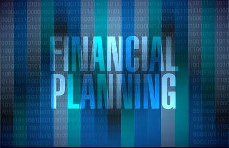 financial emergency: financial planning binary background sign concept illustration design graphic Illustration