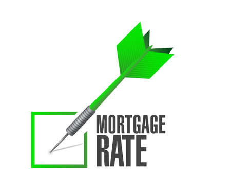 lender: mortgage rate check dart sign concept illustration design graphic icon Illustration