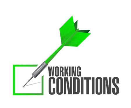 flexible business: working conditions check dart sign concept illustration design graphic