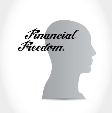 conservative: financial freedom mindset sign concept illustration design graphic