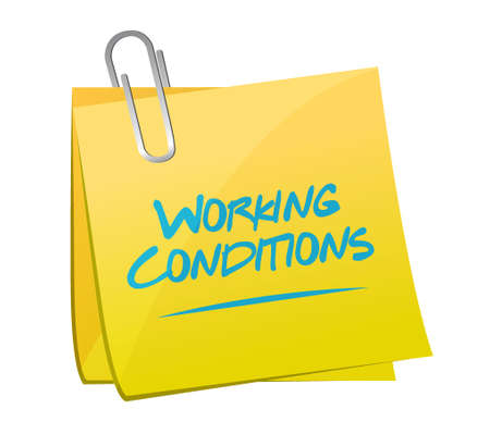 flexible business: working conditions memo post sign concept illustration design graphic