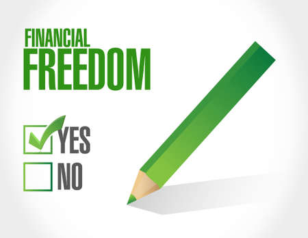 financial freedom: financial freedom approval sign illustration design graphic