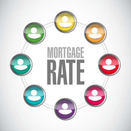 mortgage rate connection network sign concept illustration design graphic icon