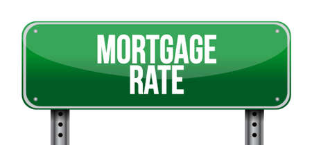 lend: mortgage rate road sign concept illustration design graphic icon