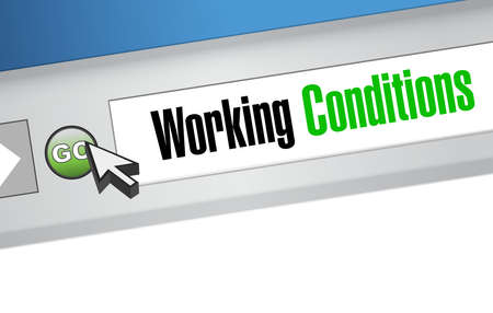 working conditions website sign concept illustration design graphic