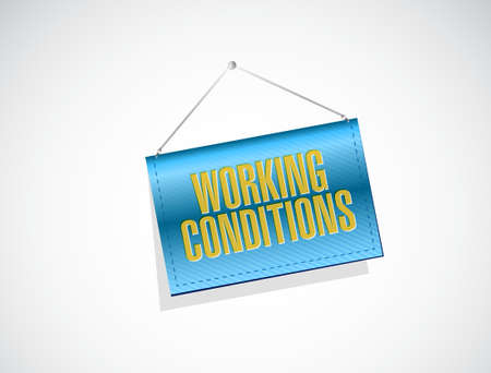 working conditions blue texture sign concept illustration design graphic