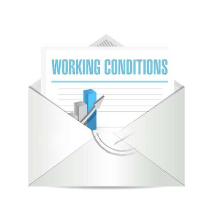 werkomstandigheden zakelijke post teken concept illustratie grafisch