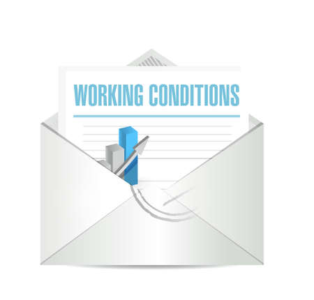 working conditions business mail sign concept illustration design graphic Illustration