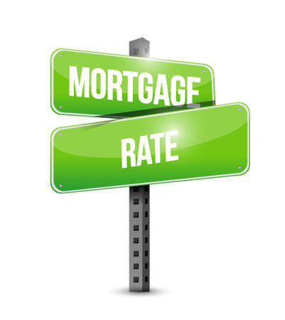 mortgage rate street road sign concept illustration design graphic icon Illustration