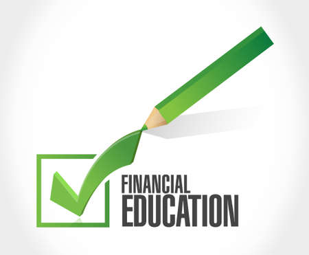 check sign: financial education approval check mark sign concept illustration design graphic